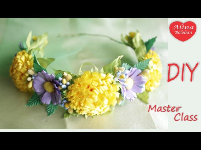 "Венок из Лент Сочные Одуванчики The Chaplet of Ribbons Luscious Dandelions"" Hand made"