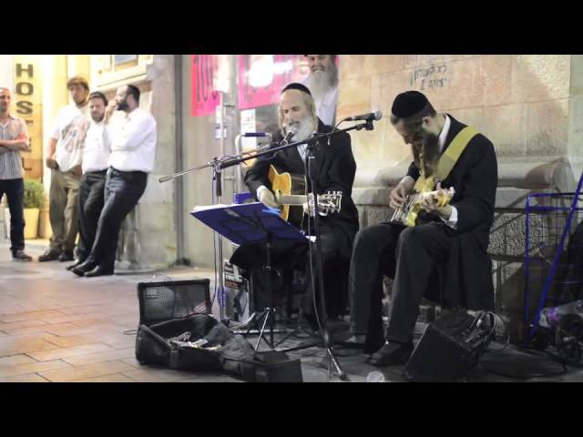 Jewish men singing Pink Floyds Wish You Were Here