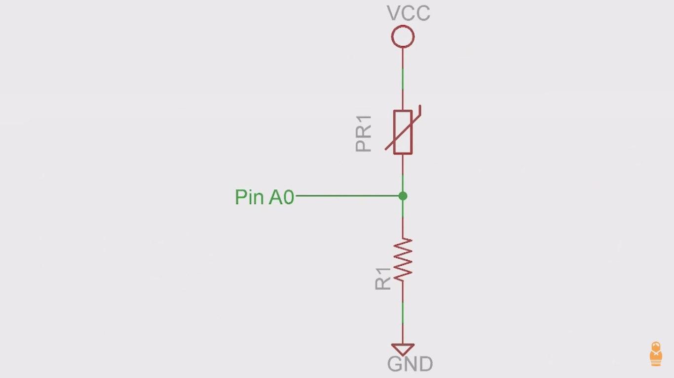 Arduino Code Arduino Lesson 9 Sensing Light