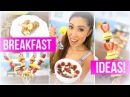 Quick Healthy Breakfast ideas! Pancake Kabobs, Banana Pops Berry Crunch Oatmeal!