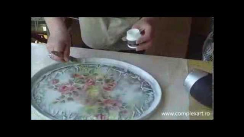 Decoupage Vintage, Lazura and Cracking varnish FINO