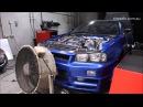 Big power R34 GTR with T88 34D Kills Dyno LOL