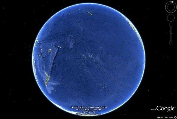 """Так выглядит Земля, с """"обратной"""" стороны!"""