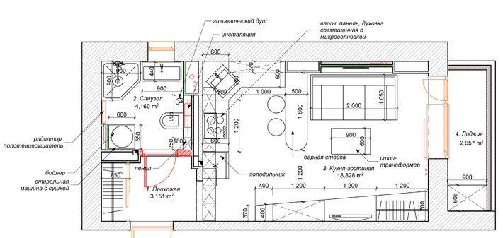 Концепт студии 26 м.