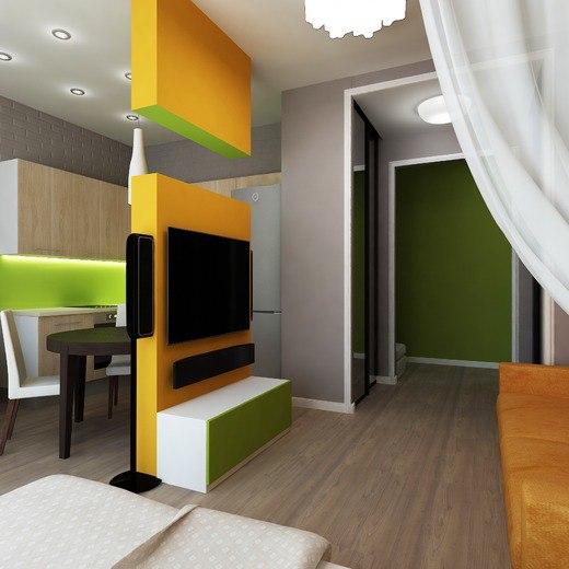 Проект квартиры 35 м.