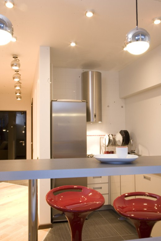 Современный минималистичный интерьер квартиры 43 м.
