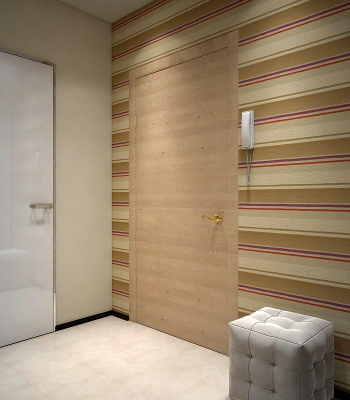 Проект квартиры 45 м c дополнительным вариантом дизайна.