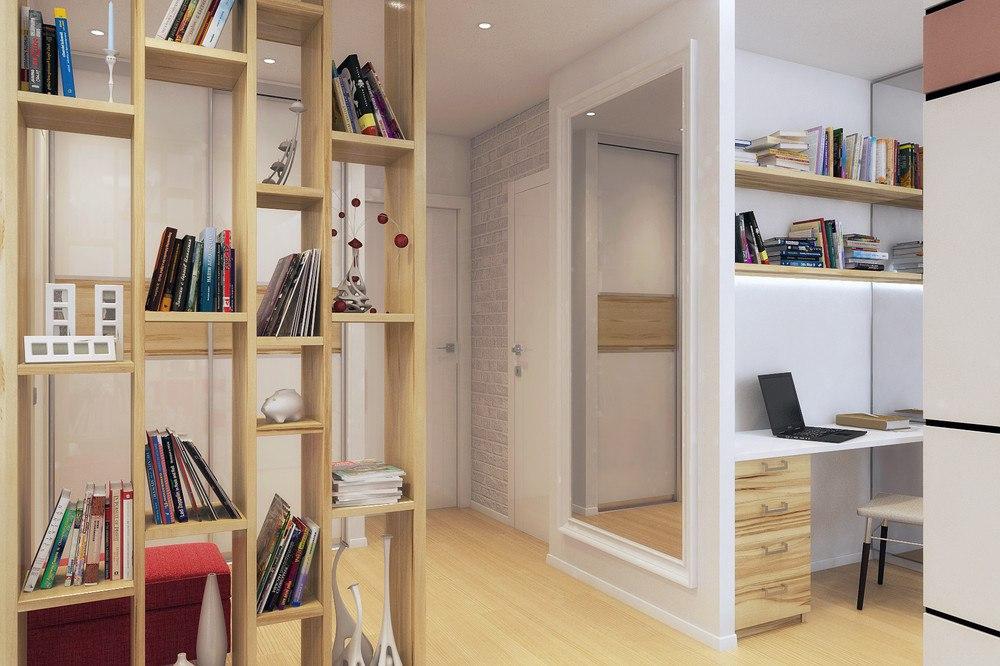 Проект квартиры-студии 42,6 м.