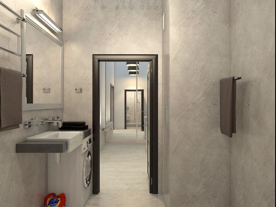 Проект квартиры в стиле лофт без точного метража.
