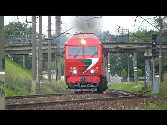 Тепловоз ТЭП70БС 117 близ ст Вильнюс TEP70BS 117 near Vilnius station