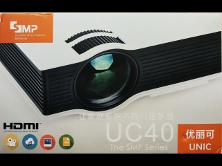 Посылка Из Китая: Проектор UC40, EasyCast OTA HDMI
