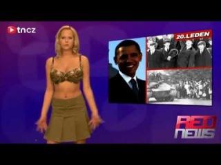 RED news chez Naked news Moderuje ZUZANA