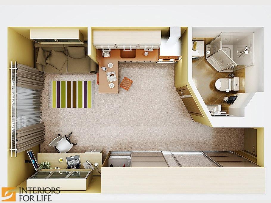Концепт квартиры 30 м.