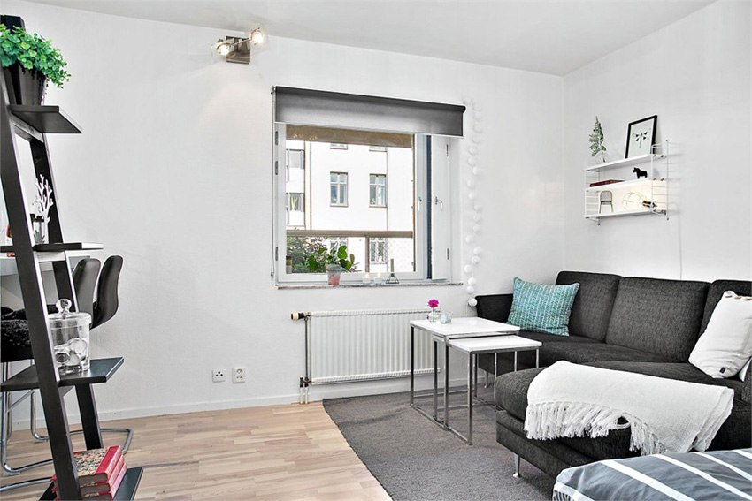 Интерьер квартиры-студии 30 м.