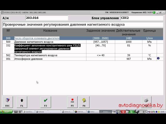 Mercedes DAS/XENTRY - для диагностирования автомобилей концерна MERCEDES-BENZ (пример W203)