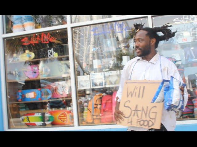 Homeless man sings John Legend's All Of Me