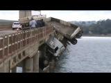 Случай на дороге # Фура вылетела с моста!