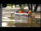 Случай на дороге #  Пожарная машина едет под водой!