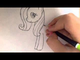 Как нарисовать пони Флатершай?