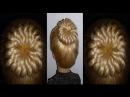 Ажурный пучок из волос.Причёска с бубликом для средних и длинных волос