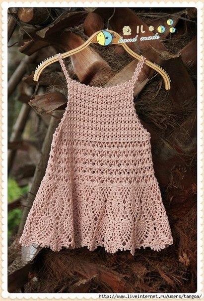 Детское платье крючком. Схемы. (8 фото) - картинка