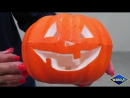 6 axis robo waterjet cuts a pumpkin