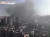 В Киеве горит Жилой дом.