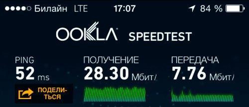 В эфире Волгограда замечена сеть LTE Билайна b20