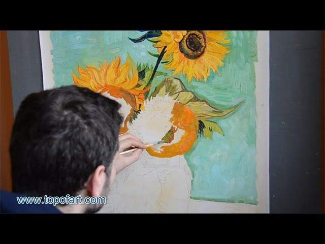 Van Gogh Three Sunflowers in a Vase Art Reproduction Oil Painting
