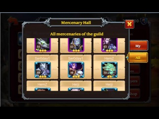 Обзор игры Heroes Charge как нанимать и смотреть статы героев