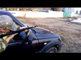 Стрельба из автомата из машины по широкому сектору