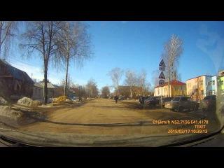 Жигули vs дорожный знак