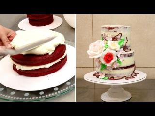 Как украсить голый свадебный торт