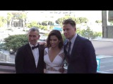 Channing Tatum and Jenna Dewan Tatum and Adam Shankman arriving at Dizzy Feet Dance Gala