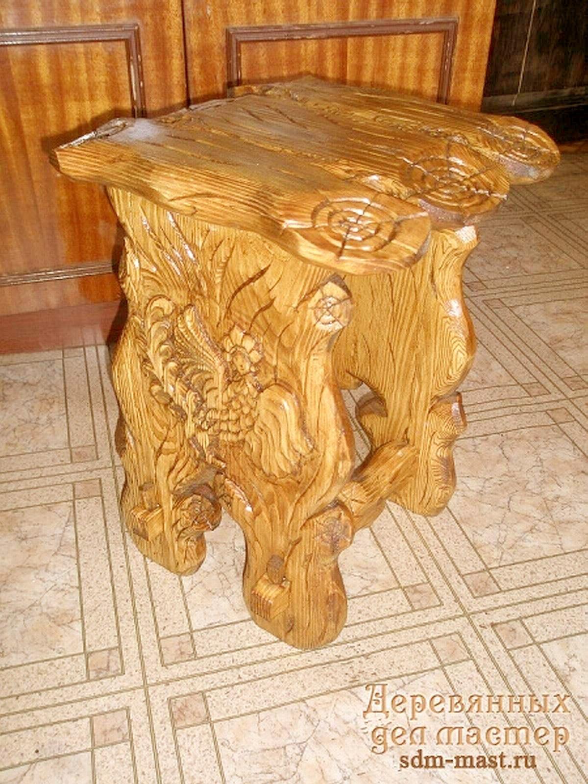 Садовая резная мебель из массива своими руками