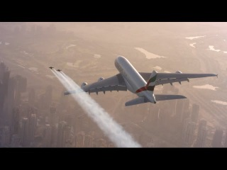 Emirates A380 and Jetman Dubai Formation Flight