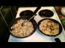 Блины на молоке фаршированные грибами Рецепт как вкусно приготовить классические ужин домашние