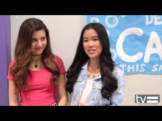 Olivia Stuck & Tiffany Espensen Interview - Kirby Buckets (Disney XD)