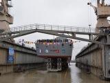 Фрегат «Адмирал Касатонов» спустили на воду в Петербурге