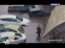 Липецк ушел под воду - мощный ливень накрыл авто на трассе