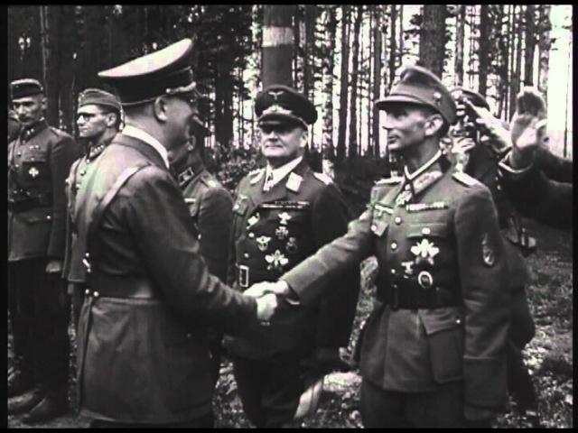 Визит Гитлера в 1942 г в Финляндию Маннергейм Hitler in Finland