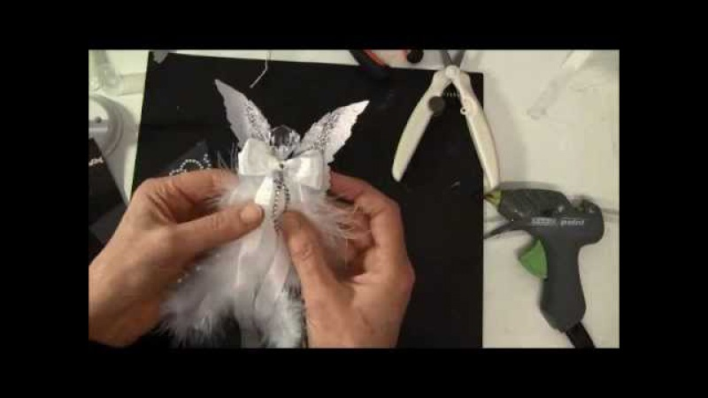 How to make a feather angel with Tim Holtz layered angel wings die