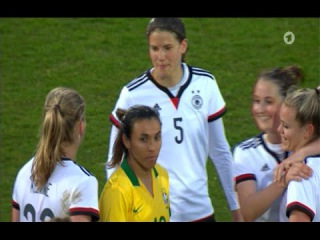 Germany 4-0 Brazil (Women) Friendly - All Goals & Highlights 08/04/2015