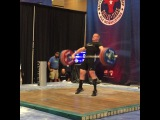 "MuscleDriver USA on Instagram: ""Team MDUSA member @jaredf94 with 167kg on his second attempt. #USAWeightlifting #USAW #USAWNC #MDUSA #TeamMDUSA #AmericanMuscle #94kgLifter"""