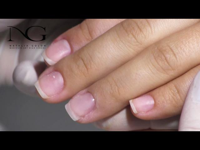 Наращивание ногтей базойGrafting of nails by the base