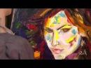 УЧИМСЯ РИСОВАТЬ. Уроки рисования. Портрет АНИ ЛОРАК в технике ПОП-АРТ. Современная живопись.
