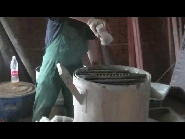 Замес пенобетона с фиброй подробно на смесителе ФПБ 100 от САРМАТ ТОРНАДО