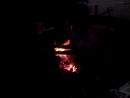 Вечерняя прогулка. Закат и костер на берегу Двины.