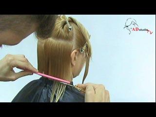 Женская стрижка Каре на удлинение от Арсена Декусара / AD studio TV / www.vi-profy.com.ua