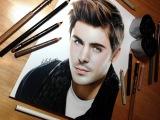Drawing Zac Efron